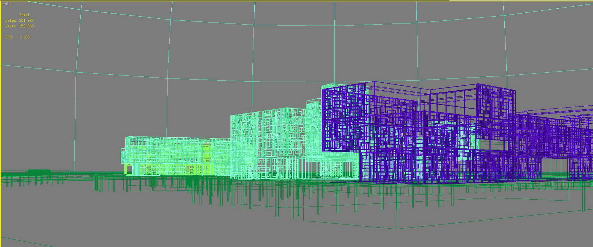 building 628 3d model max psd 126911