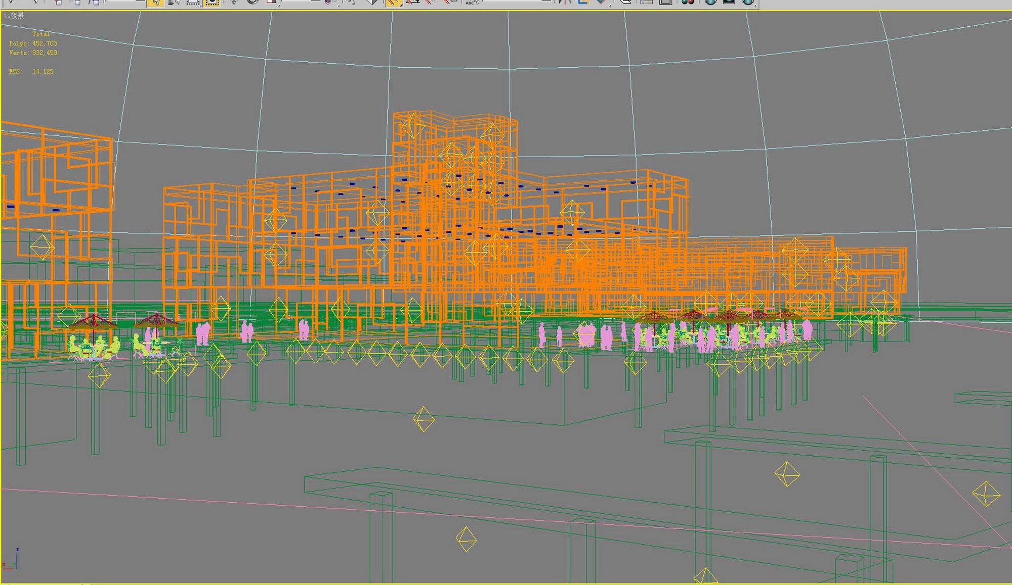 building 628 3d model max psd 126919