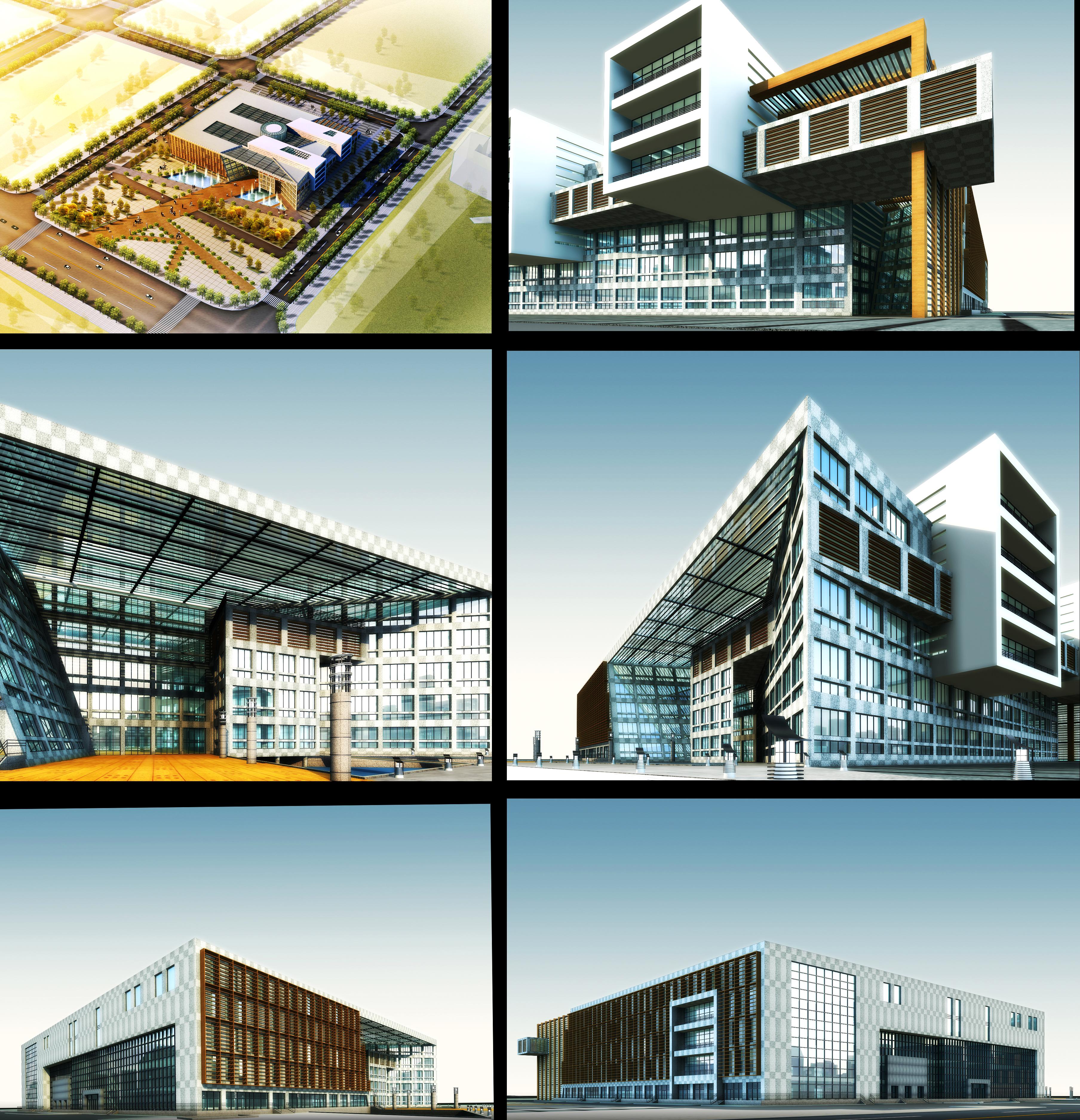 building 637 3d model max psd 126881