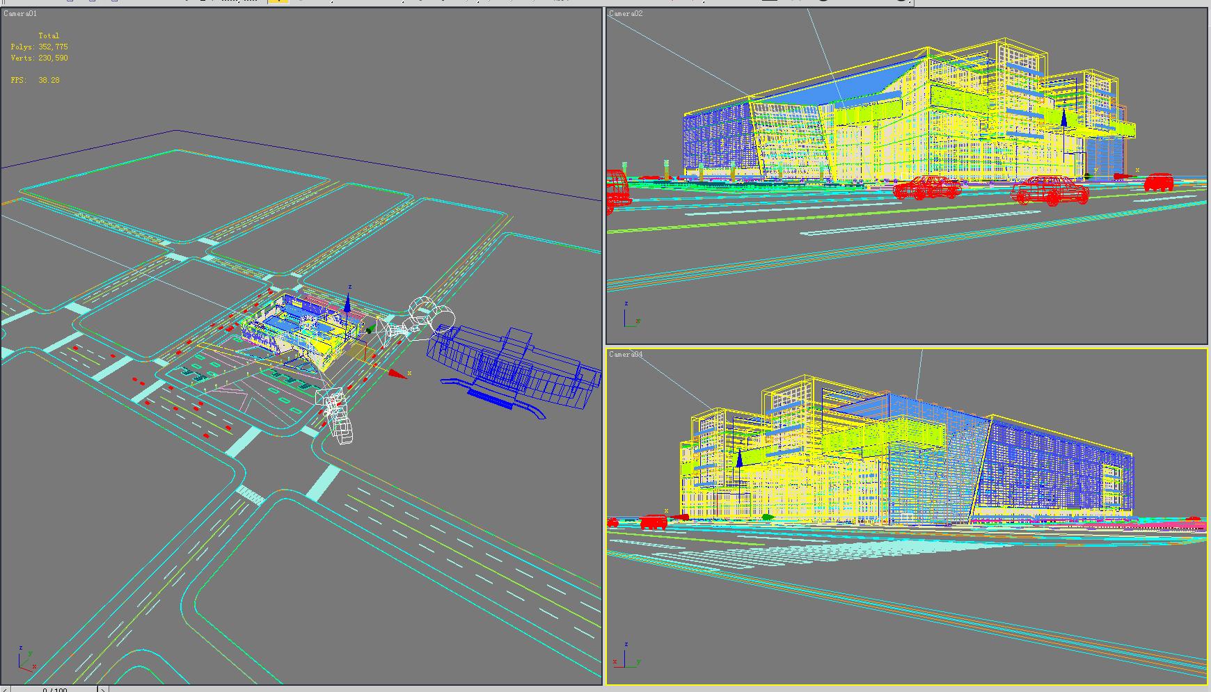 building 637 3d model max psd 126889