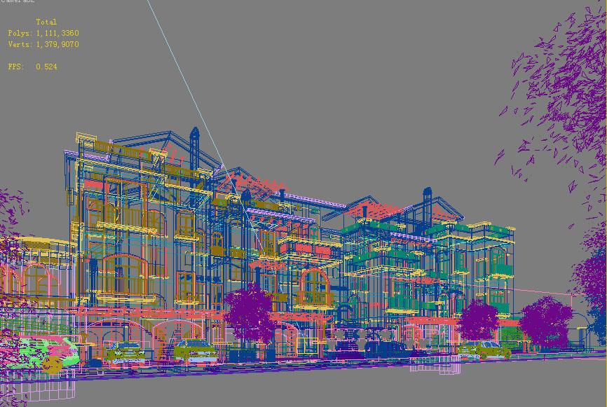 building 659 3d model max psd 126787
