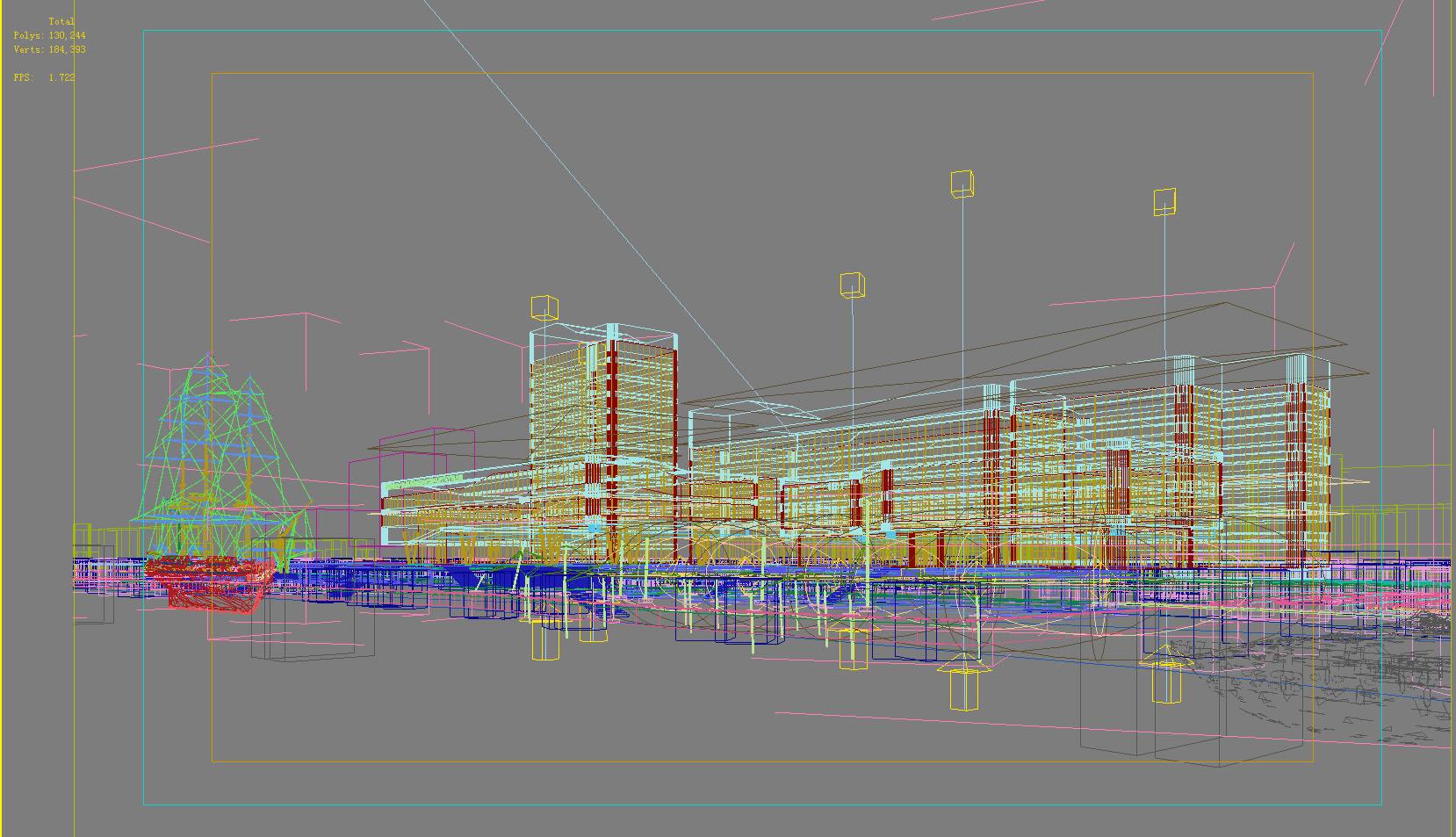 building 691 3d model max psd 126740