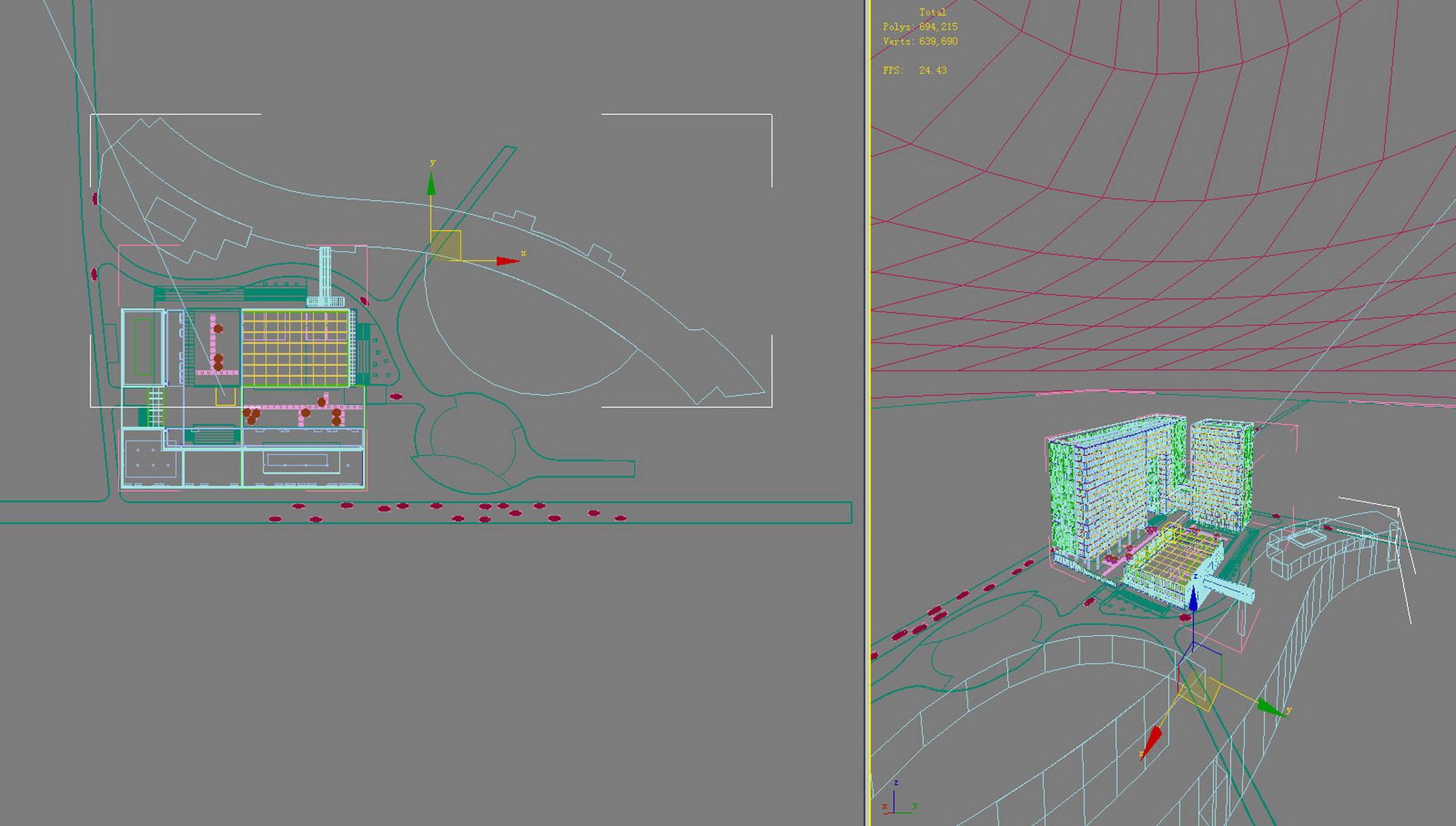 building 725 3d model max psd 126663