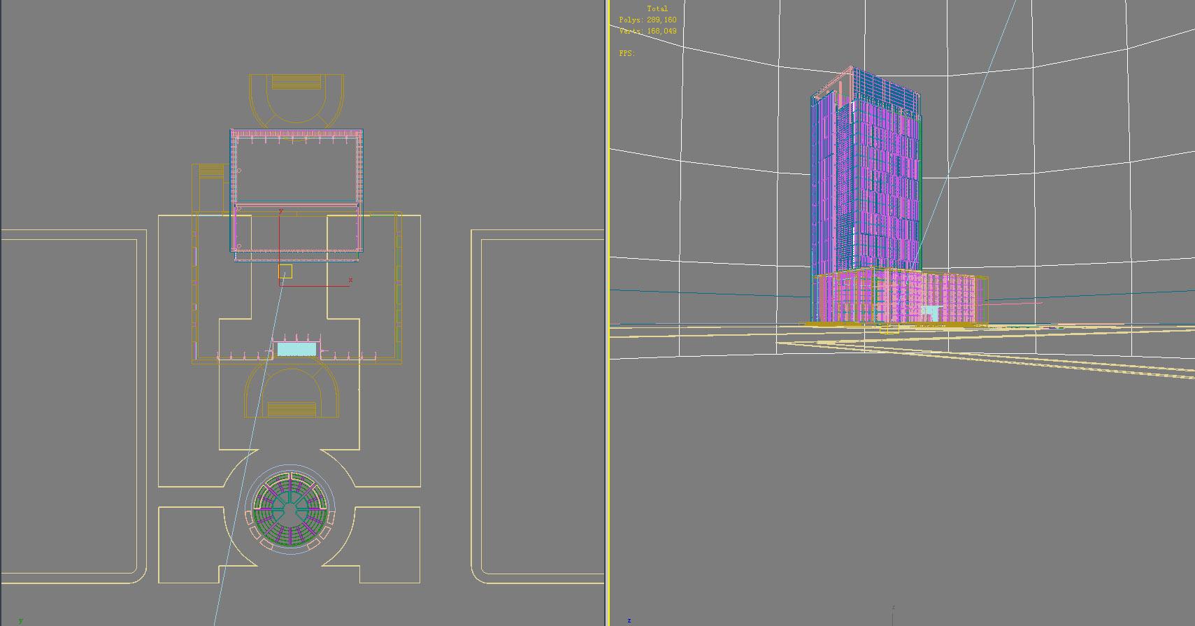 building 734 3d model max psd 126644