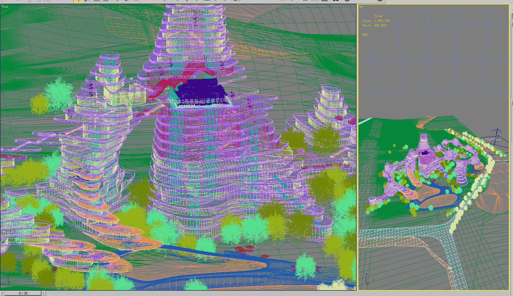 building 764 3d model max psd 126844