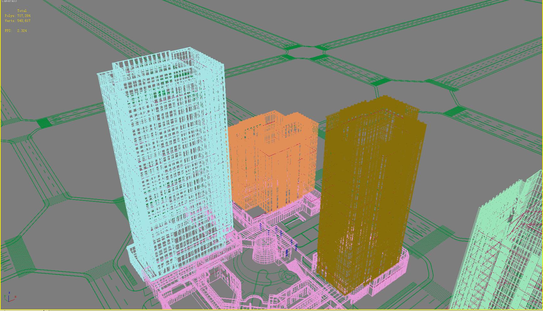building 816 3d model max psd 126027