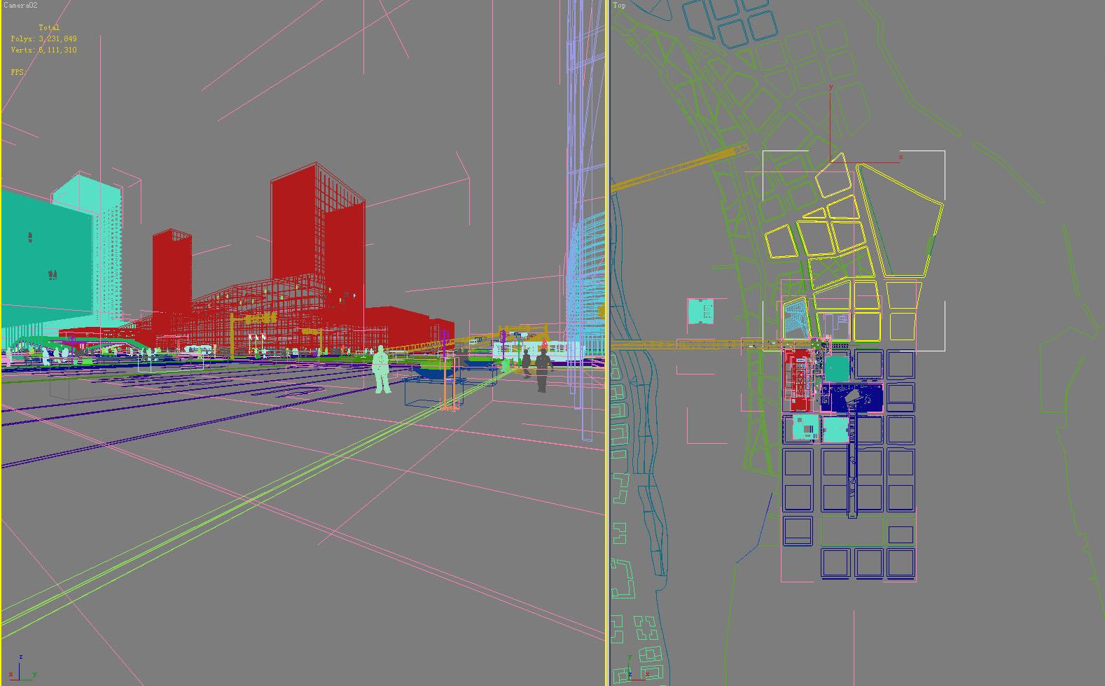building in a city scene 395 3d model max 122692