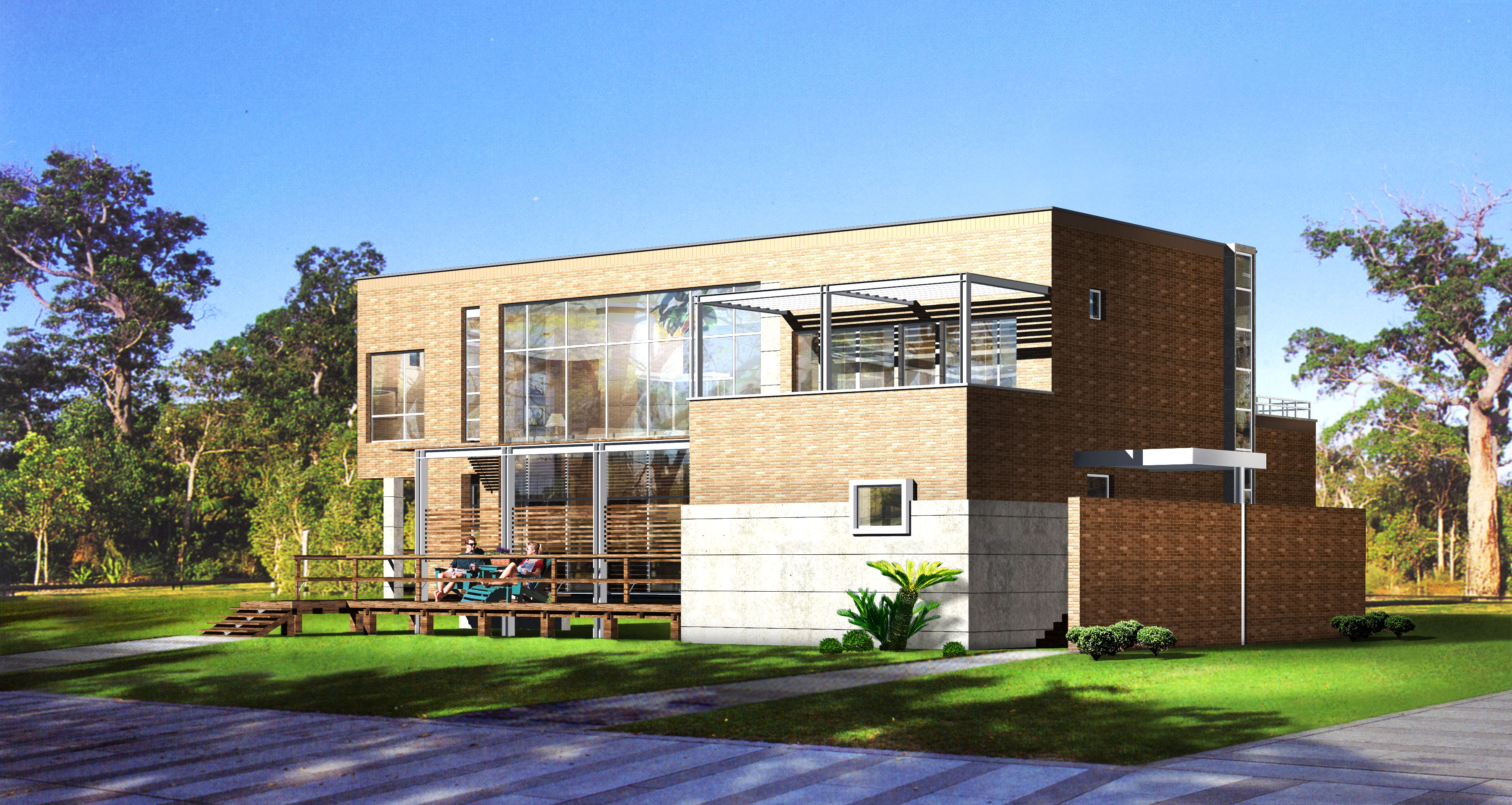 building in modern style 011 3d model max psd 122900
