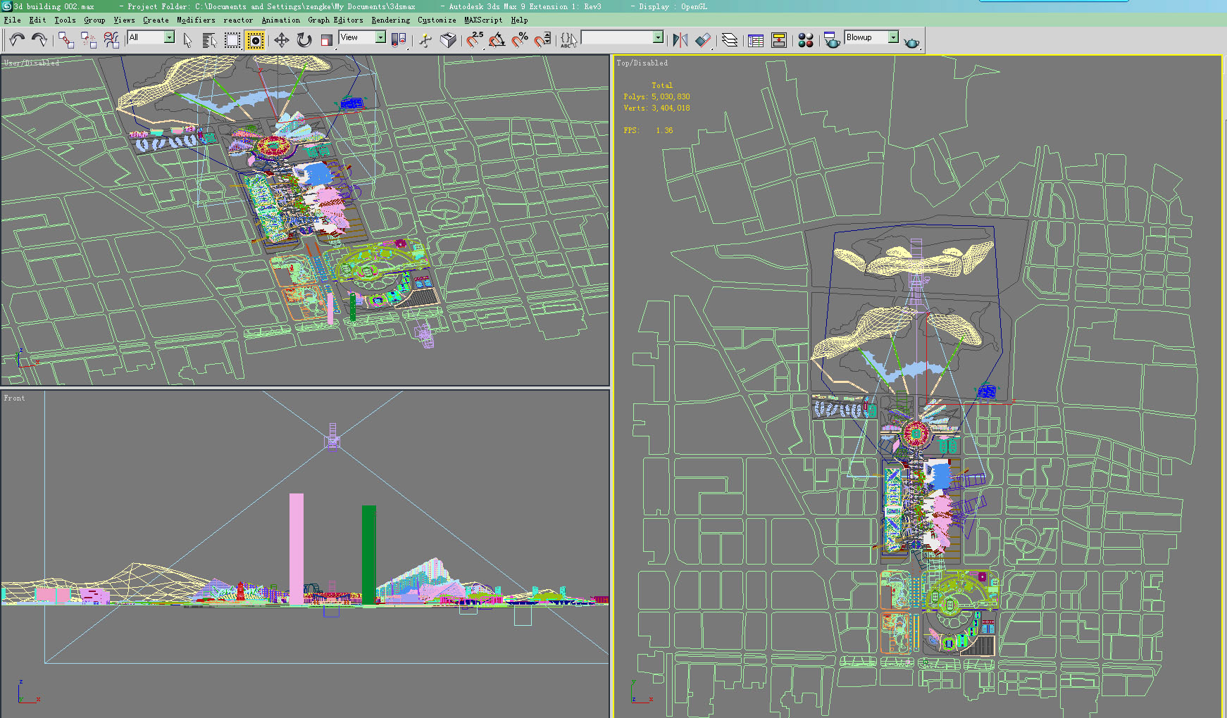 building plan 3d model max 121696