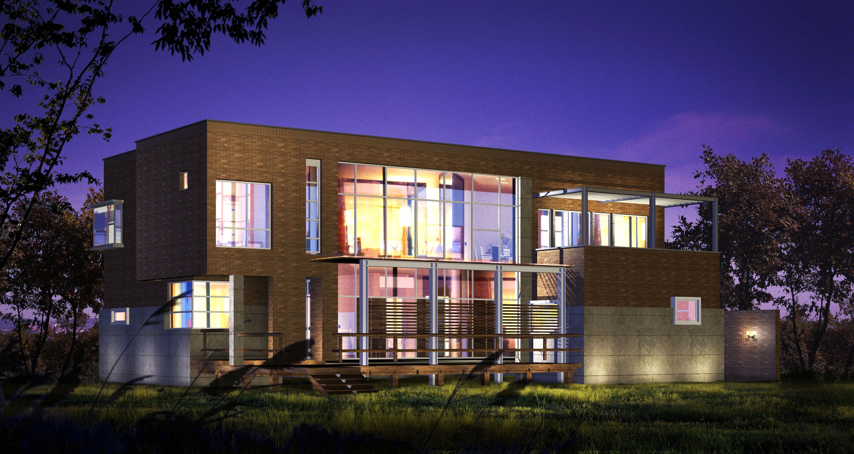 modern house 013 3d model max 123128