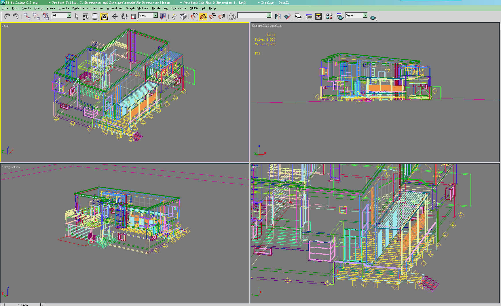modern house 013 3d model max 123129