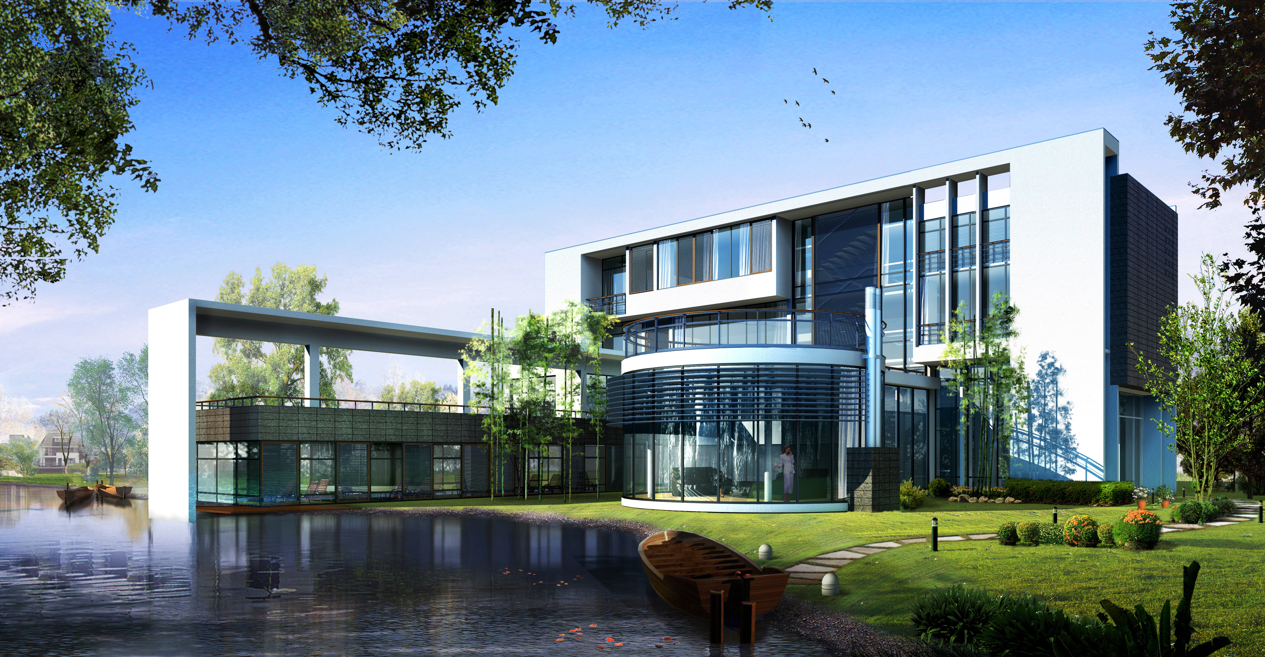 modern style building 3d model 07 3d model max 122894