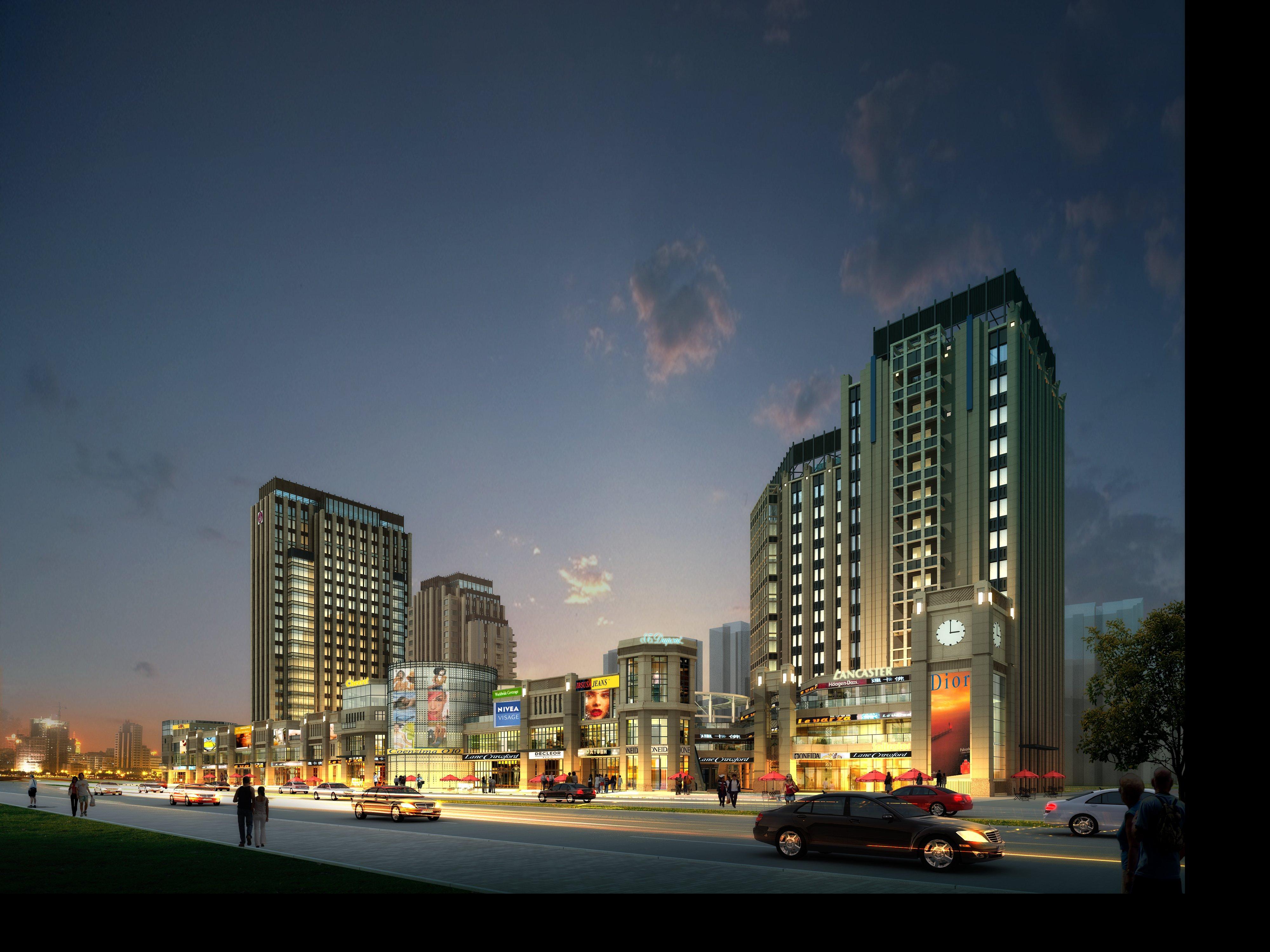 night cityscape 924 3d model max psd 121810