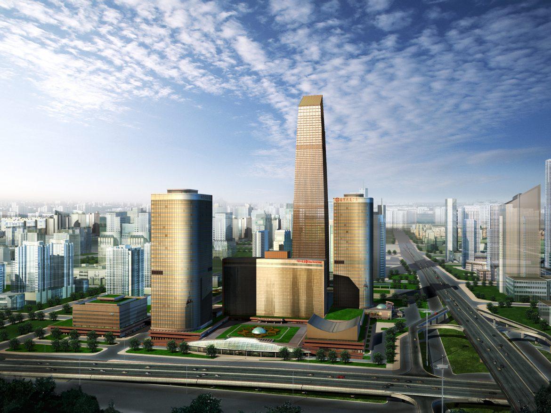 skyscraper building 015 3d model max 123133