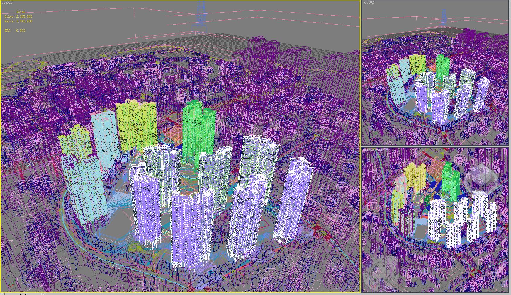 urban cityscape 342 3d model max psd 122669