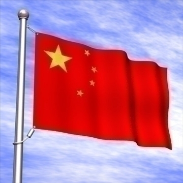 chinese flag.zip 3d model 3ds dxf fbx c4d x obj 88398