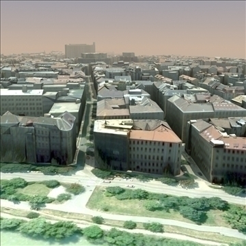 european city set01 3d model max fbx ma mb texture obj 103738