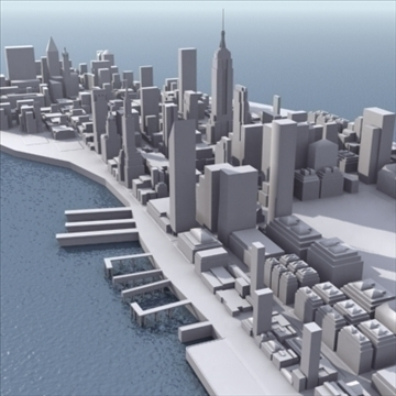manhattan stylised 3d model 3ds max fbx lwo ma mb obj 99723