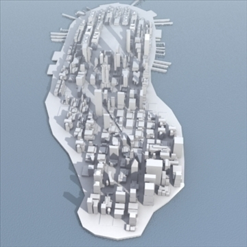 manhattan stylised 3d model 3ds max fbx lwo ma mb obj 99726