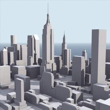 manhattan stylised 3d model 3ds max fbx lwo ma mb obj 99729