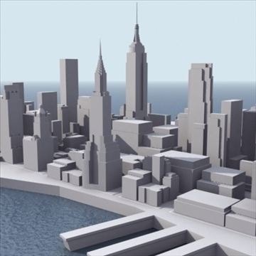 manhattan stylised 3d model 3ds max fbx lwo ma mb obj 99730