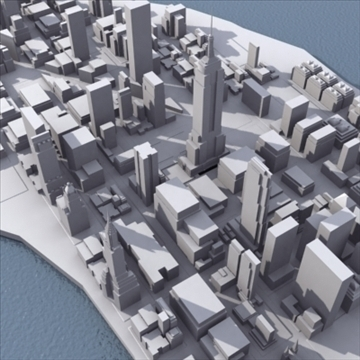 manhattan stylised 3d model 3ds max fbx lwo ma mb obj 99731