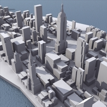 manhattan stylised 3d model 3ds max fbx lwo ma mb obj 99732