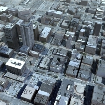 modern city no2 3d model 3ds max lwo ma mb texture obj 105912