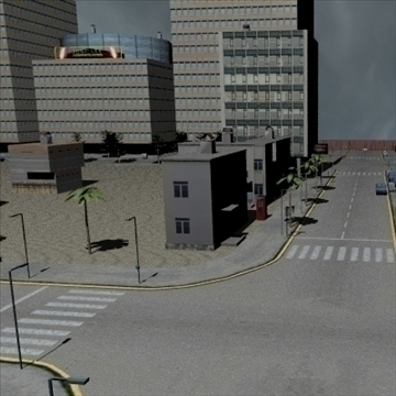 new city 3d model 3ds x obj 110907