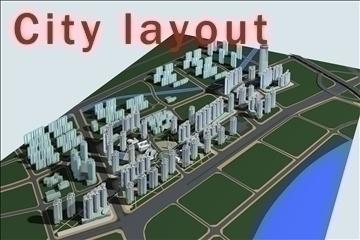 şəhər dizaynı 004 3d model 3ds max 90827