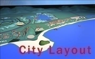 şəhər dizaynı 005 3d model 3ds max 90837