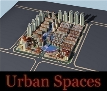 urban spaces 040 3d model max 3dm 91568