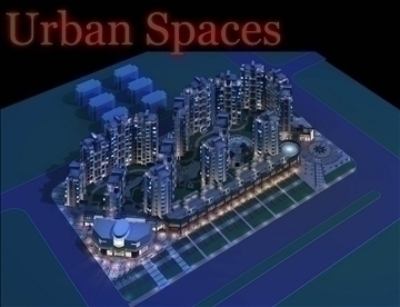 urban spaces 061 3d model 3ds max 91717