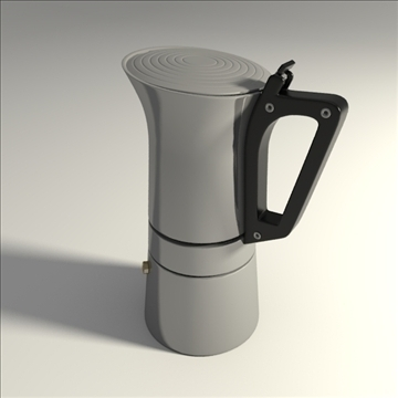 espresso maker 3d model 3ds blend obj 104208