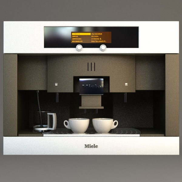 miele coffee machine 3d model 3ds max fbx texture 115014