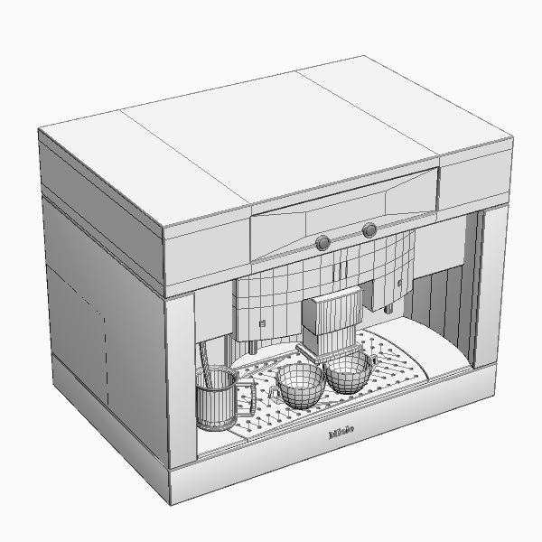 peiriant coffi mân model 3d 3ds max fbx texture 115016