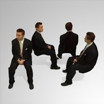 10 3d people models – seated 3d model 3ds max lwo 89269