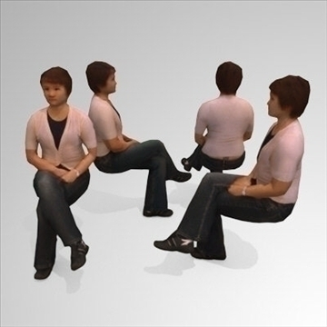 10 3d people models – seated 3d model 3ds max lwo 89273