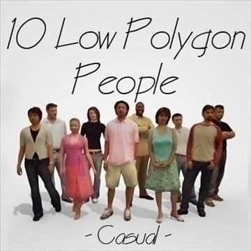 10 people 3d model 3ds max lwo 89254