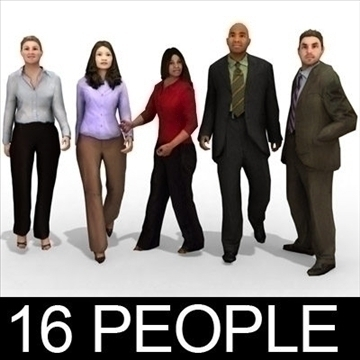 16 3d people models – business 3d model 3ds max lwo 89331