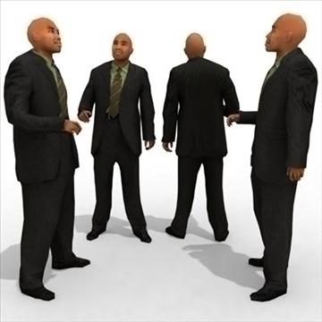 16 3d modeli ljudi - poslovni 3d model 3ds max lwo 89338
