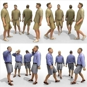 16 3d people models – casual 2 3d model 3ds max lwo 89341