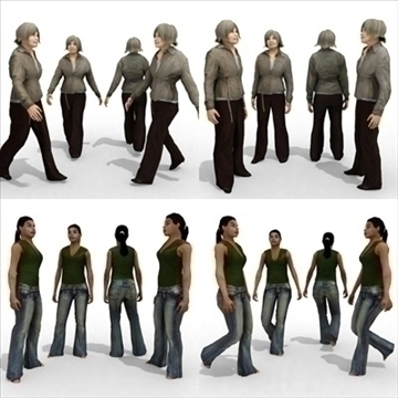 16 3d people models – casual 2 3d model 3ds max lwo 89343