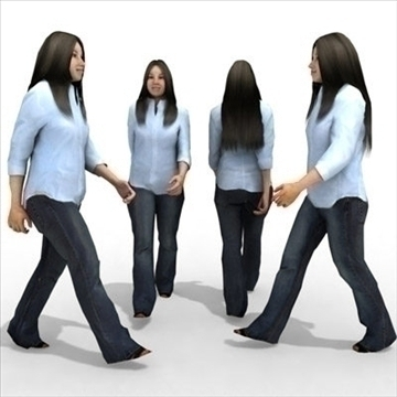 16 3d people models – casual 2 3d model 3ds max lwo 89345