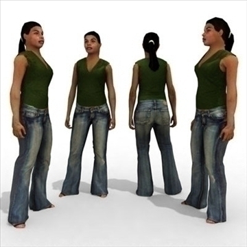 16 3d people models – casual 2 3d model 3ds max lwo 89346