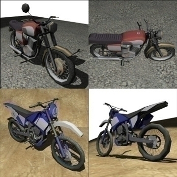 2 in 1 motorbike pack 3d model 3ds 97494