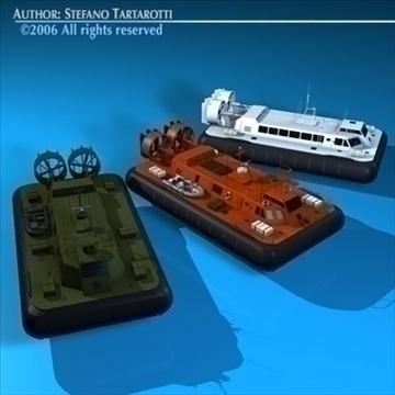 3 hovercraft collection 3d model 3ds dxf c4d obj 82950