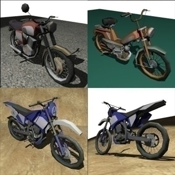 3 in 1 motorbike pack 3d model 3ds 97479