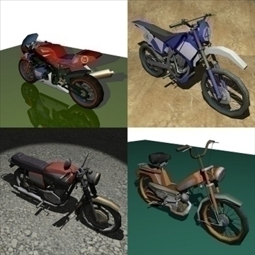 4 v motocyklu 1 3d model 3ds 97580