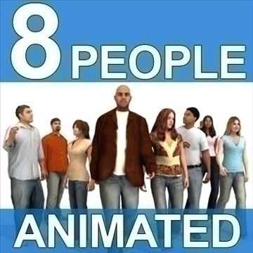 8 pre-animated 3d people models – casual 3d model max 89274